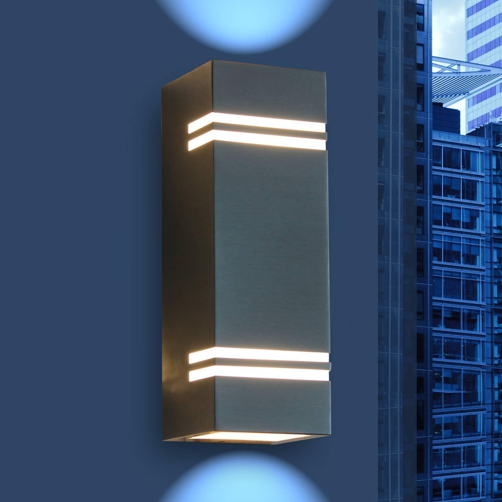 Moderne, utendørs LED-vegglampe Stripes