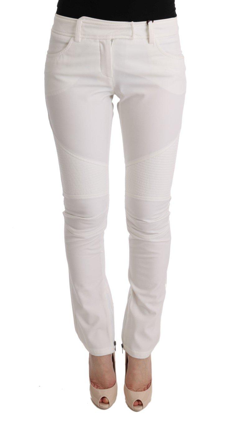 Ermanno Scervino Women's Slim Fit Trouser White SIG30306 - IT40 S