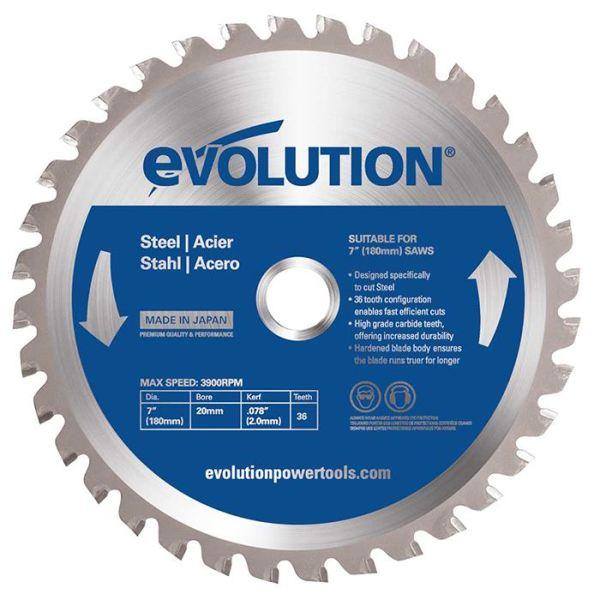 Evolution EV180S Sahanterä 180x2,0x20mm, 36T