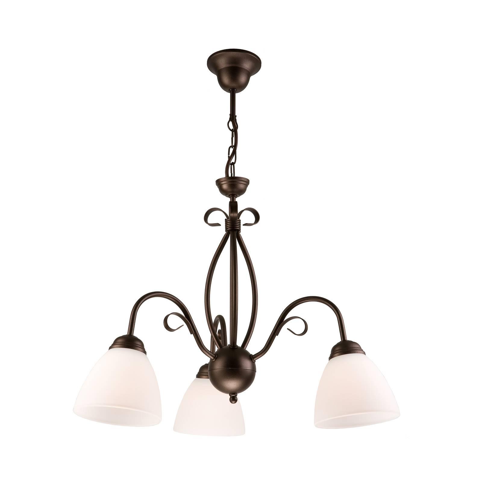 Riippuvalo Adoro, 3-lamppuinen, ruskea
