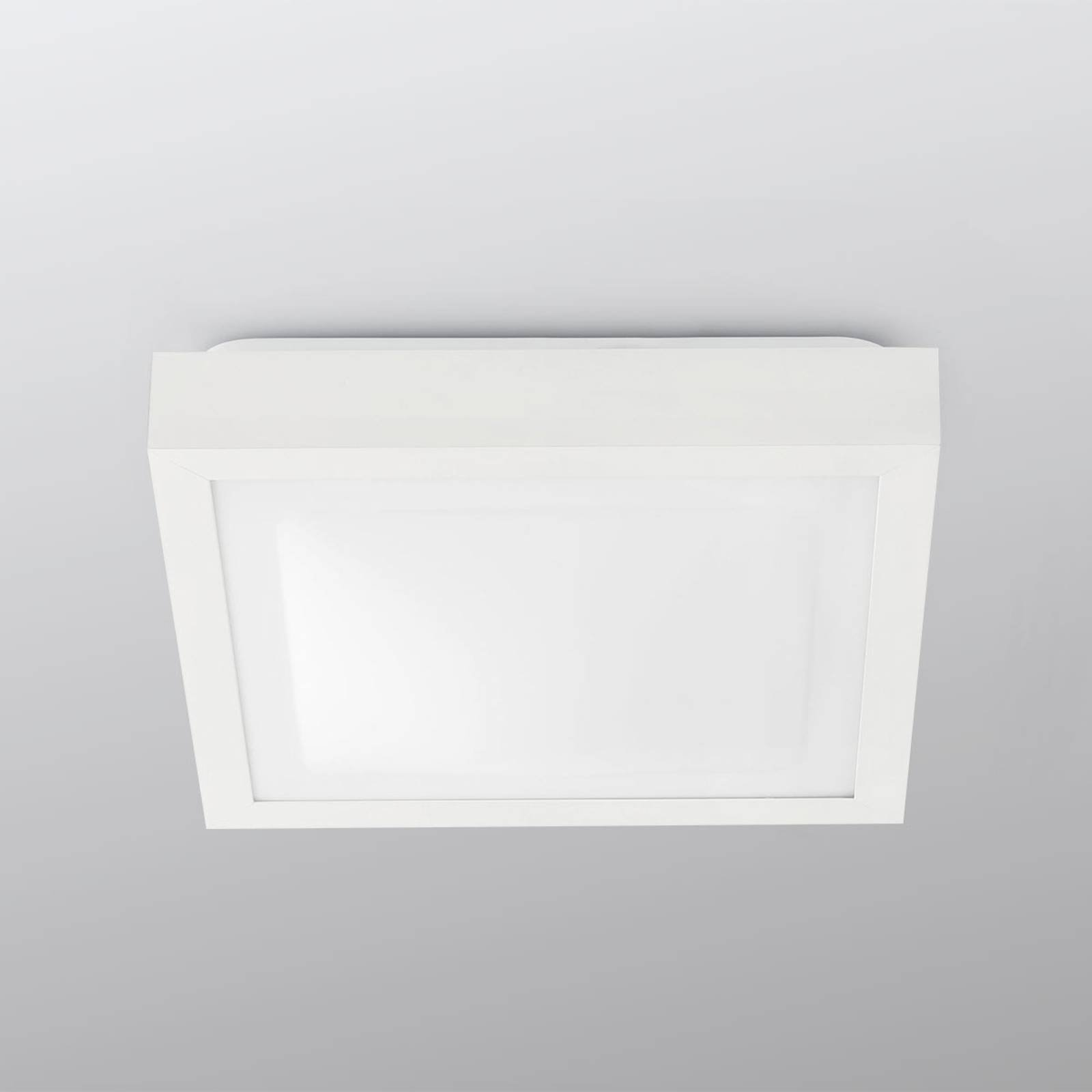 Kvadratisk taklampe Tola til badet