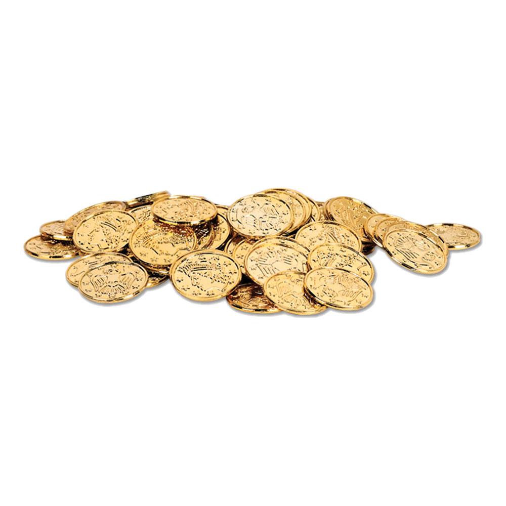 Plastmynt Guld - 100-pack