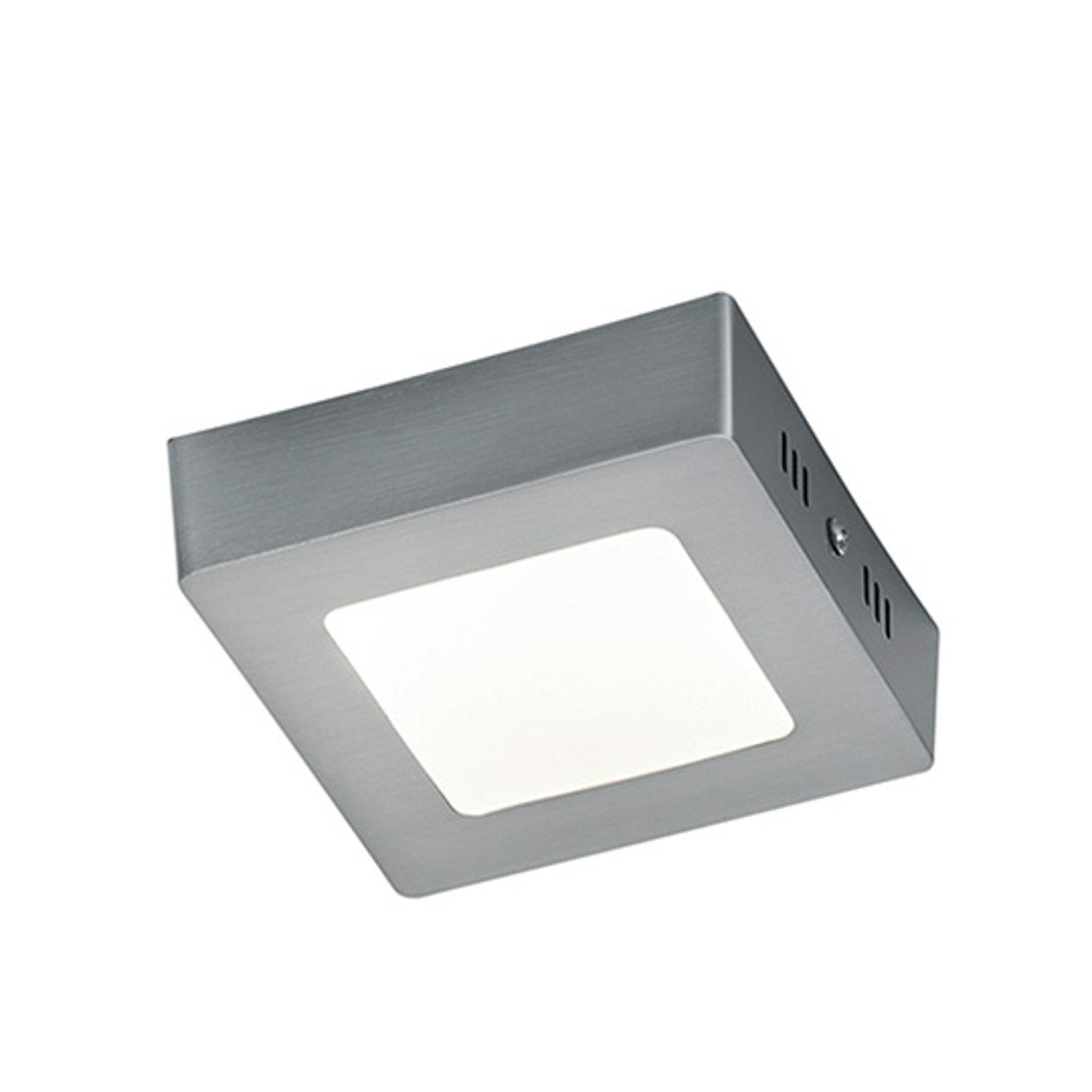 Nikkelfarget LED-taklampe Zeus