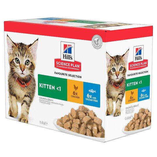 Hill's Science Plan Kitten Chicken & Ocean Fish 12x85 g