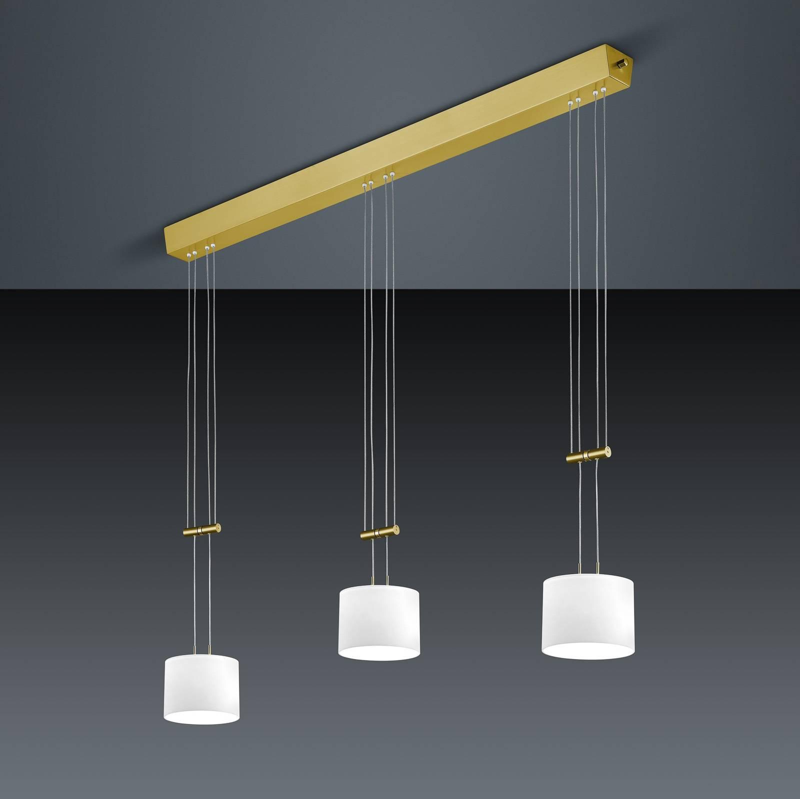 BANKAMP Grazia riippuvalo 3-lamp pitkä messinki