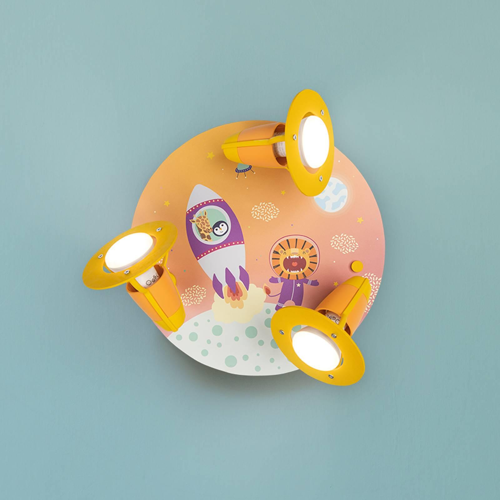 Kattovalaisin Escape, oranssi 3-lamppuinen, pyöreä
