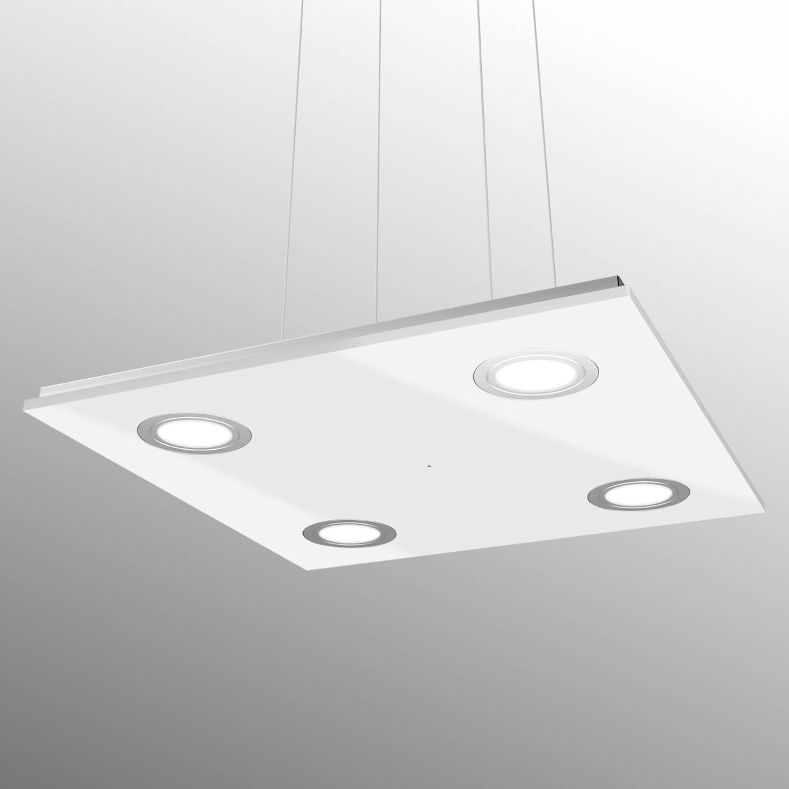 Neliömäinen Pano-LED-riippuvalaisin, valkoinen