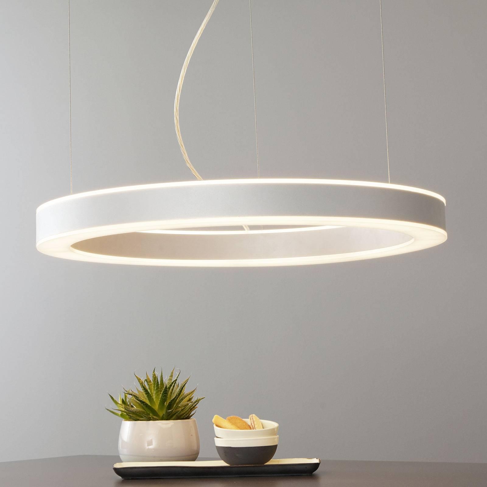 Arcchio Pietro -LED-riippuvalaisin hopea 70cm 90W