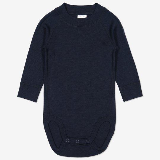 Merinoull body baby mørkblå