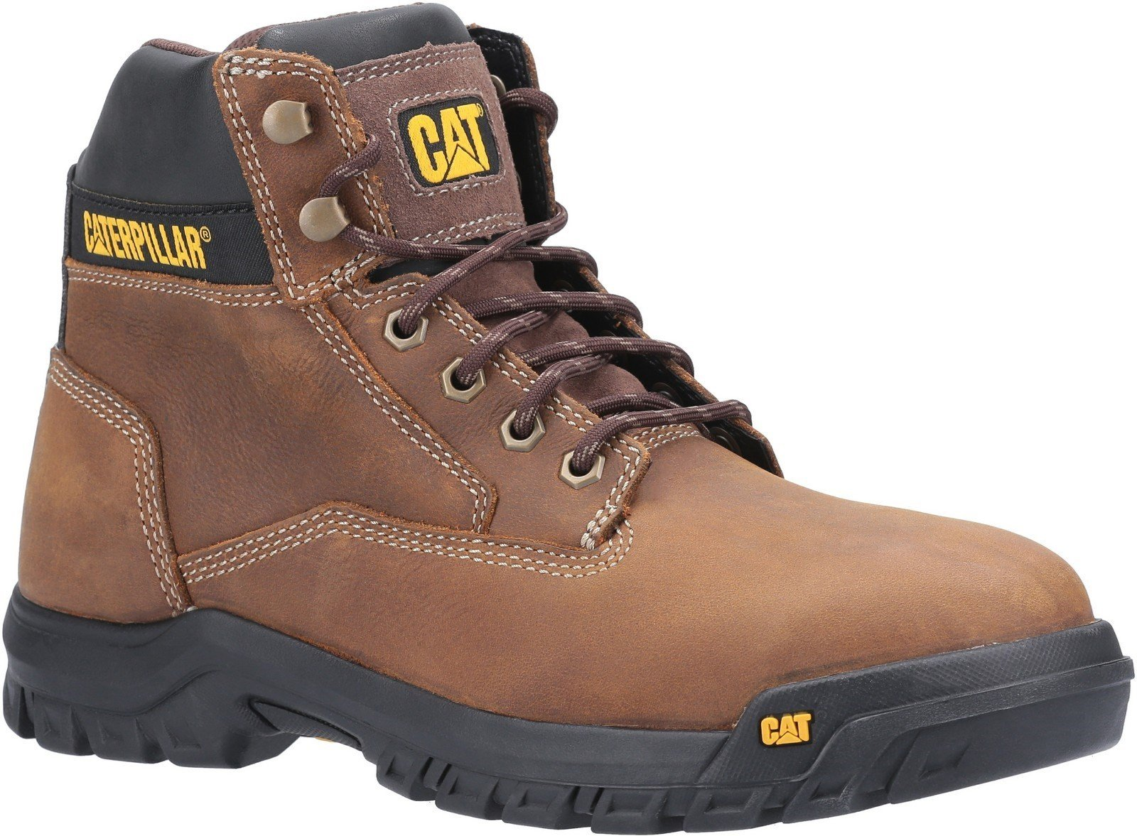 Caterpillar Men's Median S3 Lace Up Safety Boot Brown 30432 - Brown 6