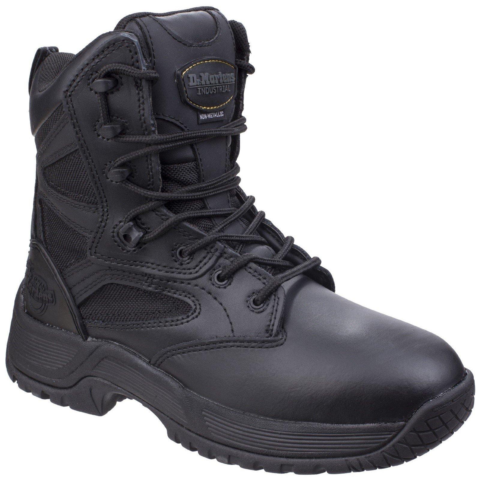 Dr Martens Unisex Skelton Service Boot Black 26028 - Black 12
