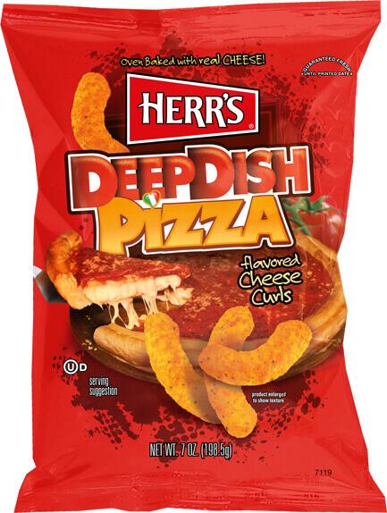 Herrs Deep Dish Pizza Cheese Curls 198gram