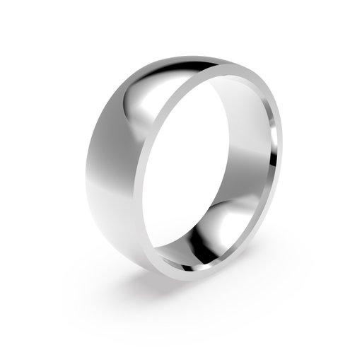 Förlovningsring i platina 7mm, 50