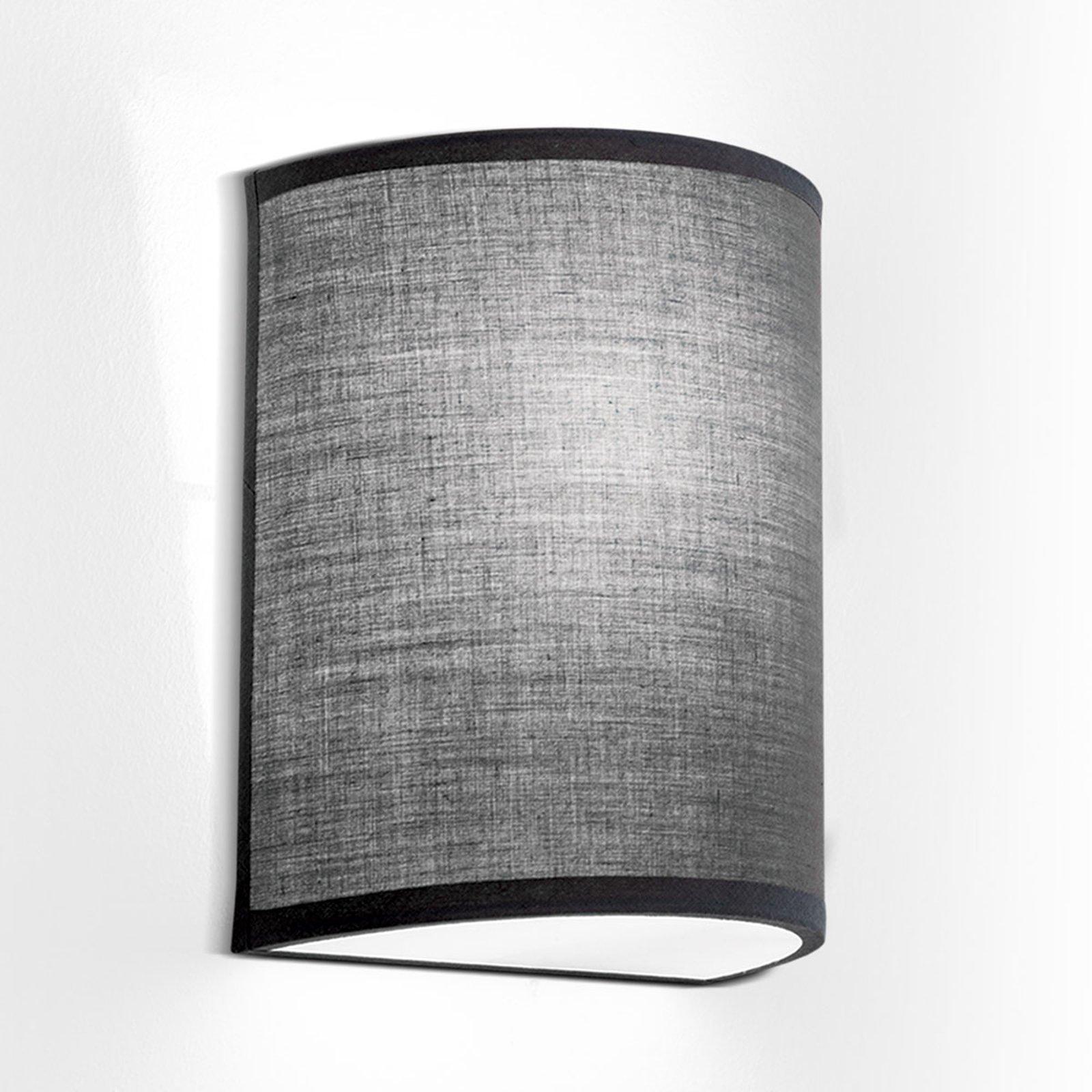 Vegglampe Ufo med linskjerm i grå