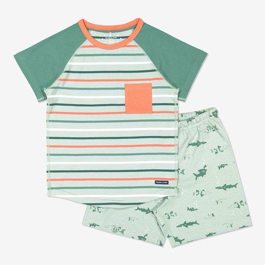 Todelt pyjamas grønn