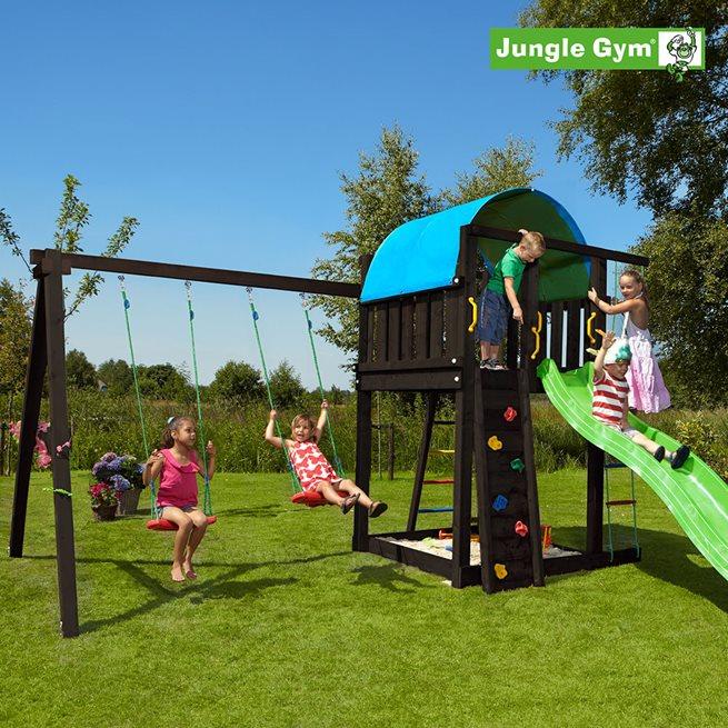 Jungle Gym Villa lektorn komplett inkl. swing, Klätterställning