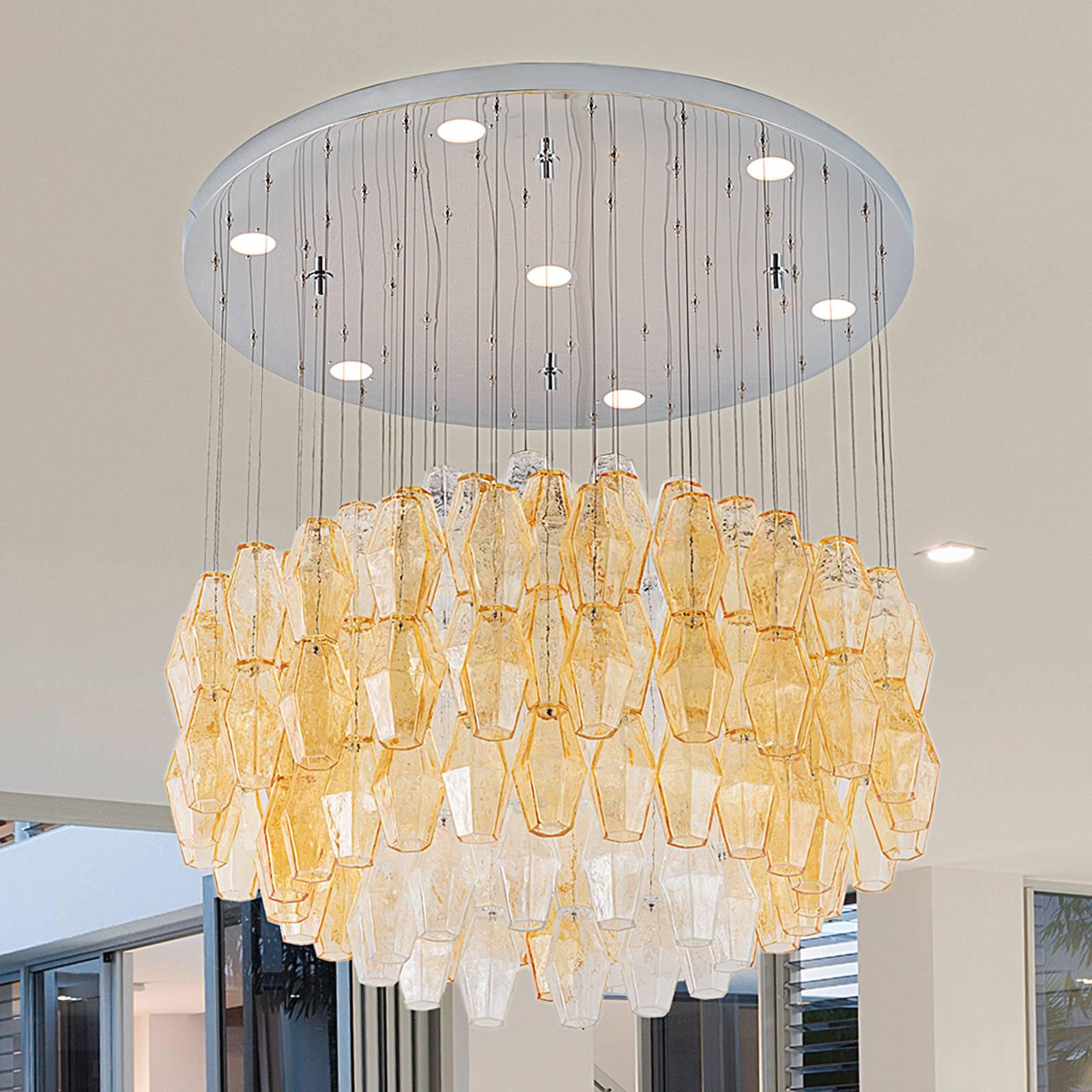 Design-LED-riippuvalaisin Glace, halkaisija 80 cm