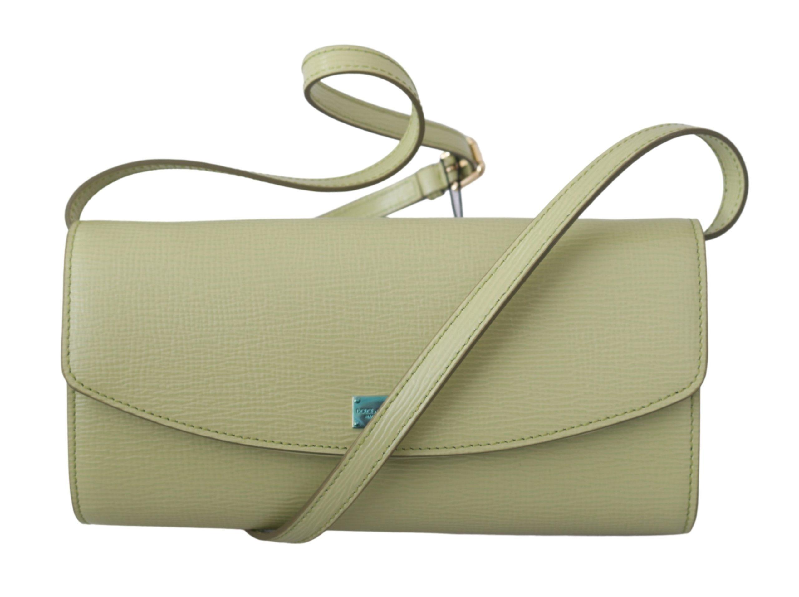 Dolce & Gabbana Women's Long Clutch Leather Bag Beige VAS9207