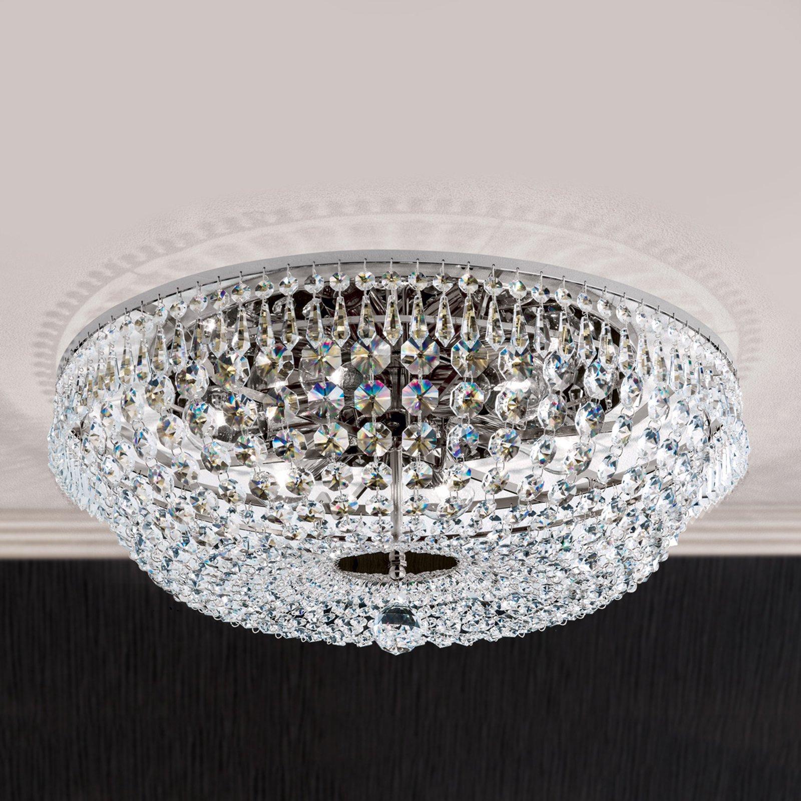 SHERATA taklampe med kromrand 55 cm