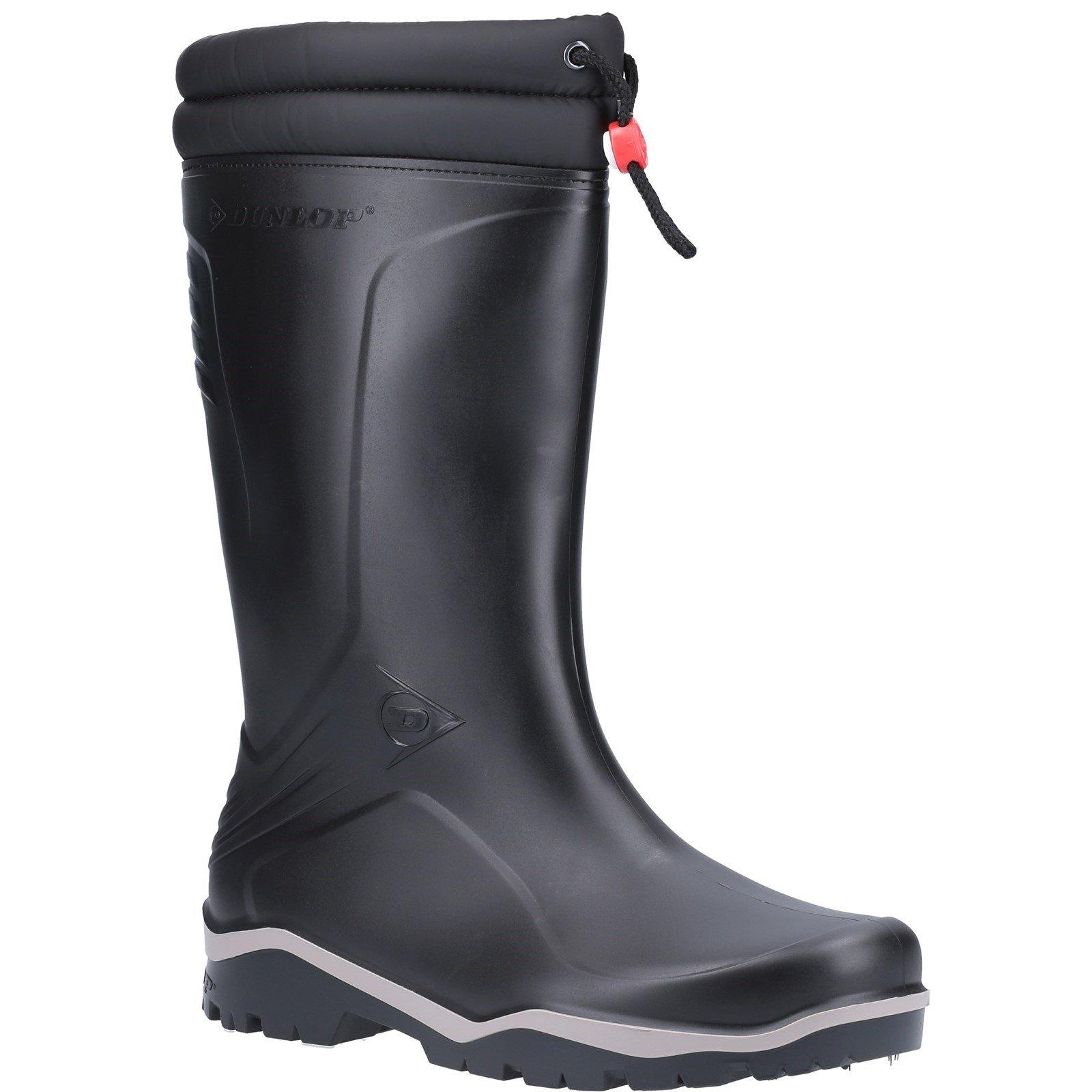 Dunlop Unisex Blizzard Plain Rubber Wellington Boot Black 22773 - Black 5
