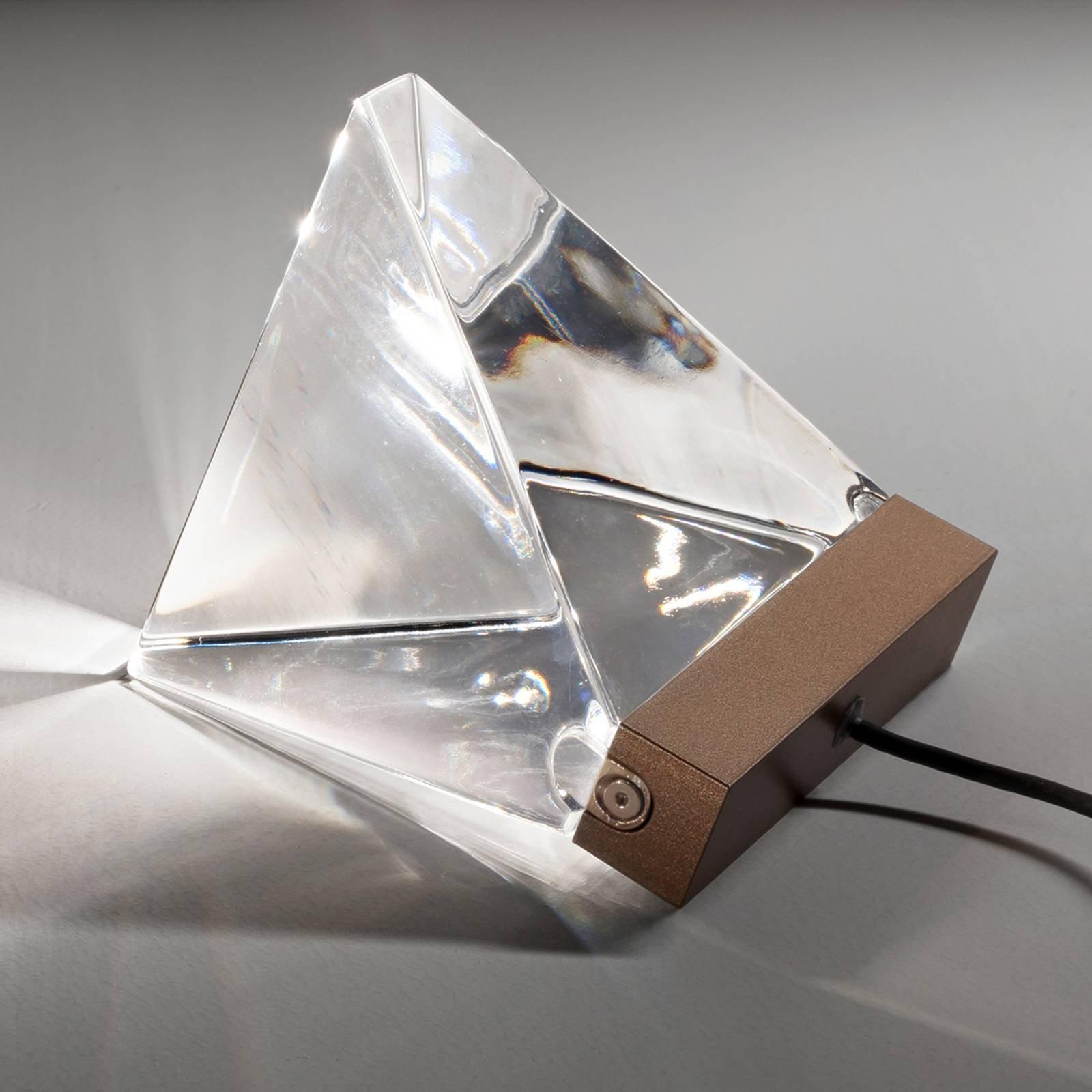 Fabbian Tripla - LED-vegglampe av krystall, bronse