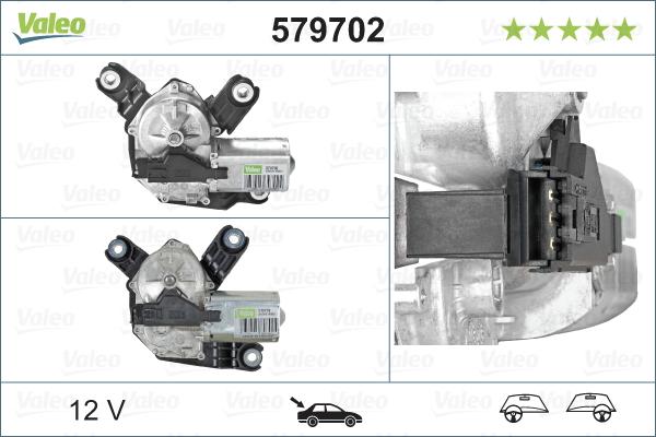 Pyyhkijän moottori VALEO 579702