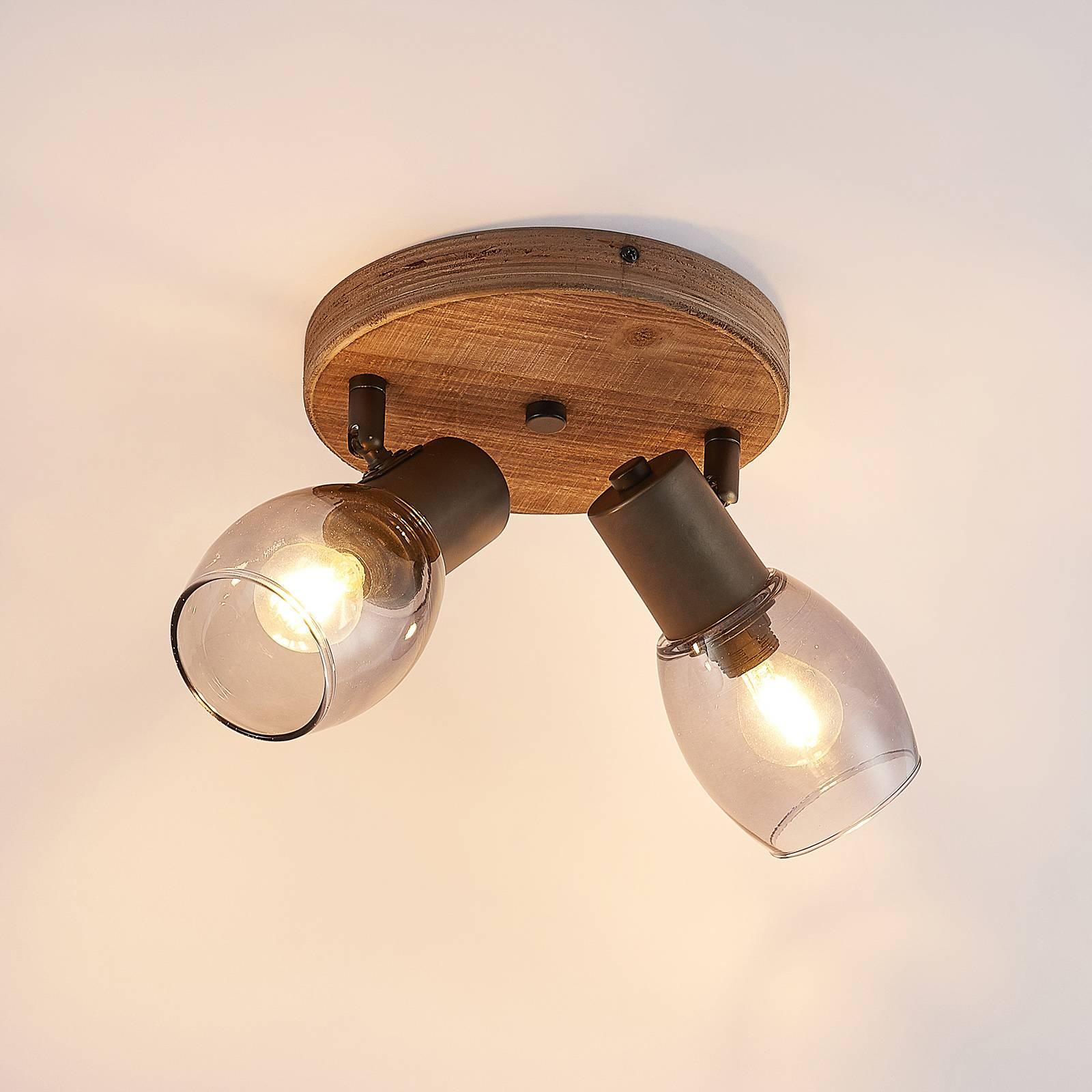 Lindby Ineska -kattokohdevalo 2-lamp. pyöreä