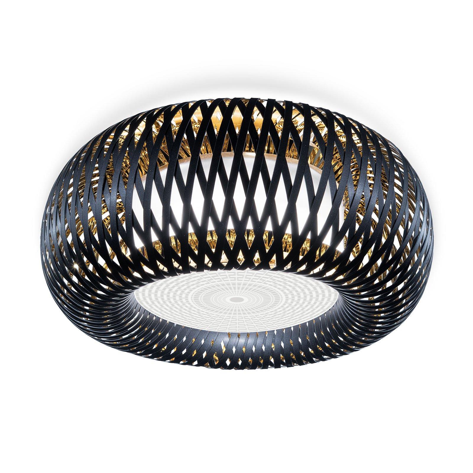 Slamp Katalos taklampe, svart/gull/hvit