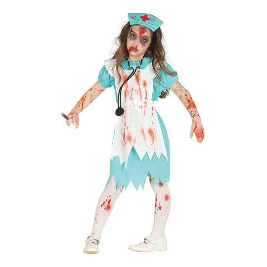 Zombiesköterska Barn Maskeraddräkt - X-Small
