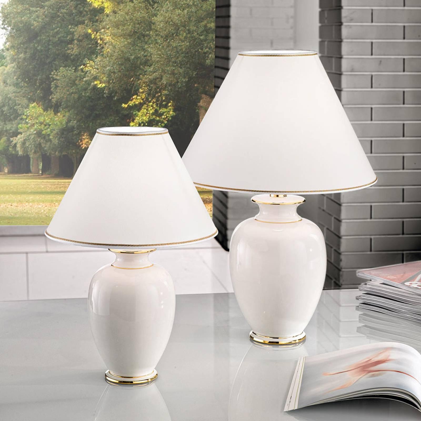 Pöytälamppu Giardino Avorio valkoinen-kulta Ø40 cm
