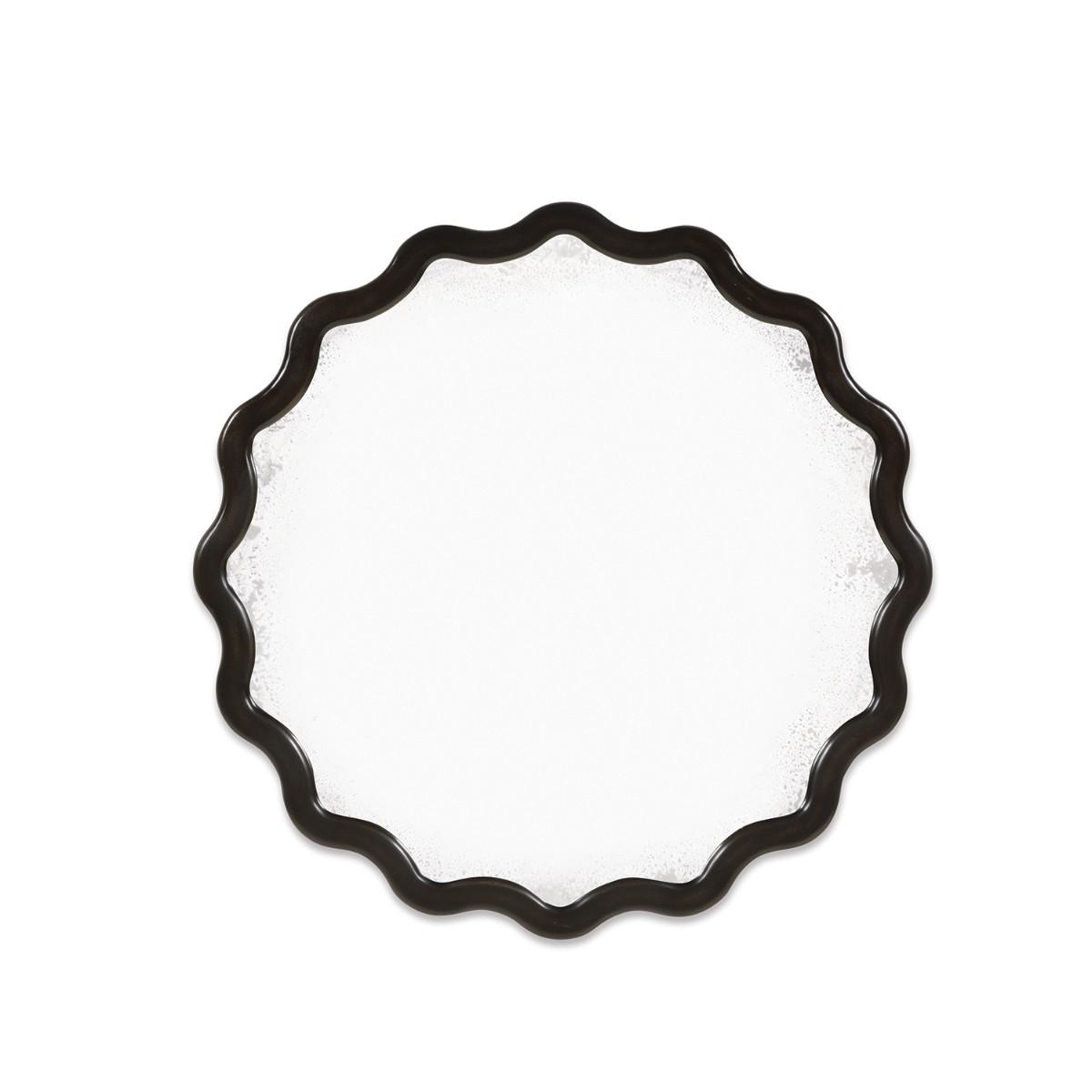 William Yeoward | Keste Round Mirror Faux Bronze Finish
