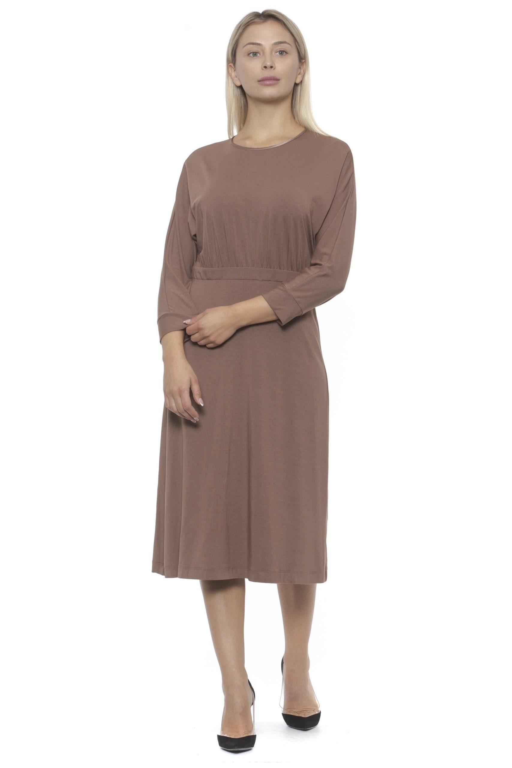 Peserico Women's Brosa Dress Pink PE1383180 - IT42   S
