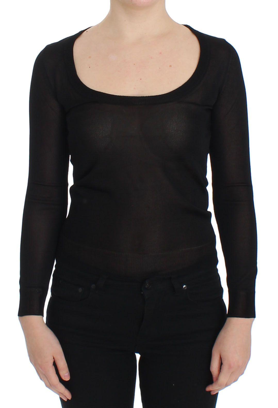 Dolce & Gabbana Women's Crewneck Pullover Sweater Black SIG13357 - IT46|XL