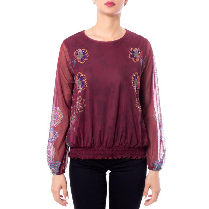 Desigual Women's T-Shirt Bordeaux 167735 - bordeaux XS