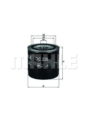 Öljynsuodatin MAHLE ORIGINAL OC 236