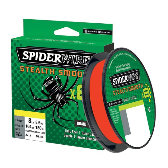 Spiderwire Smooth 8 röd 150 m