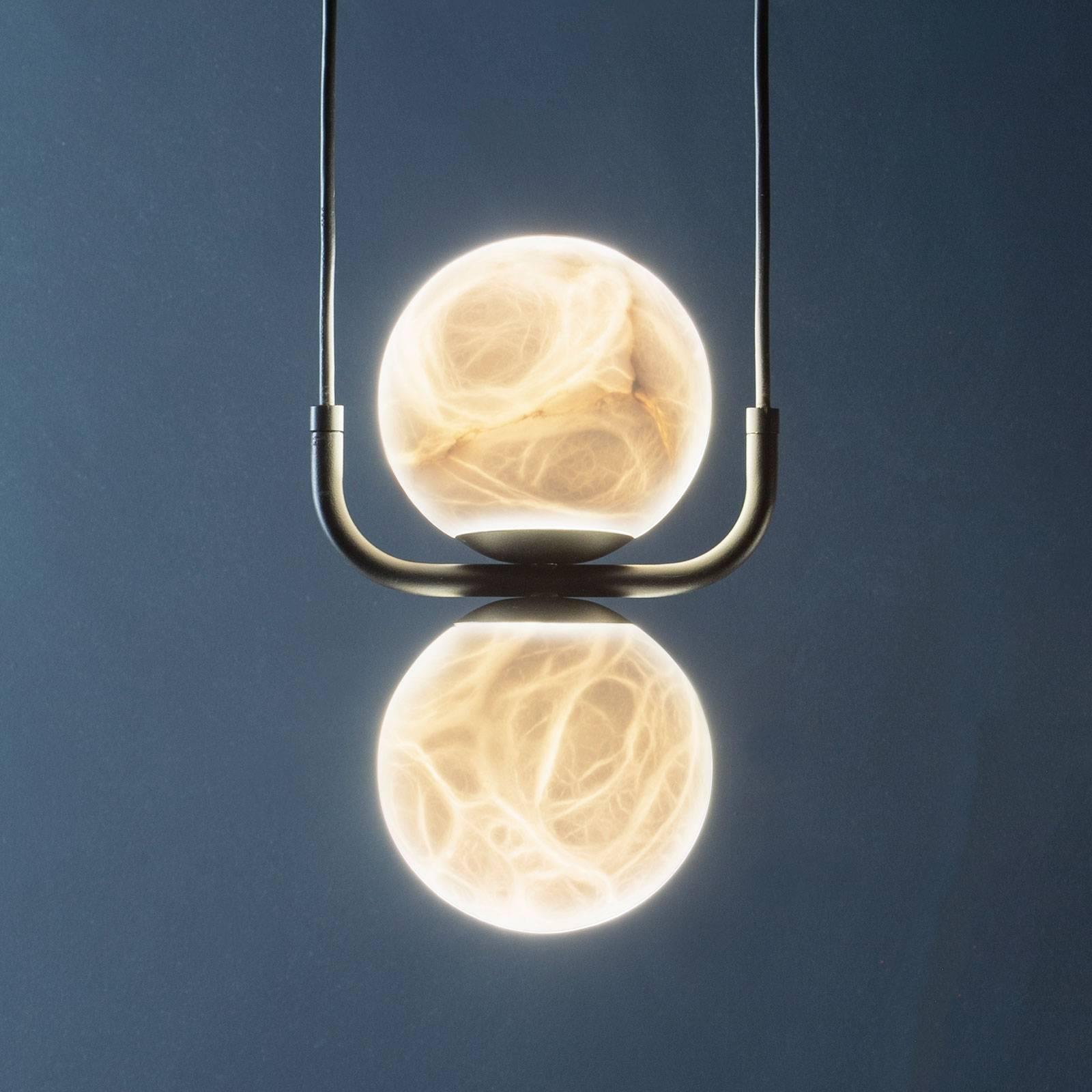 Tribeca-LED-riippuvalaisin albasteria, 2-lamp.