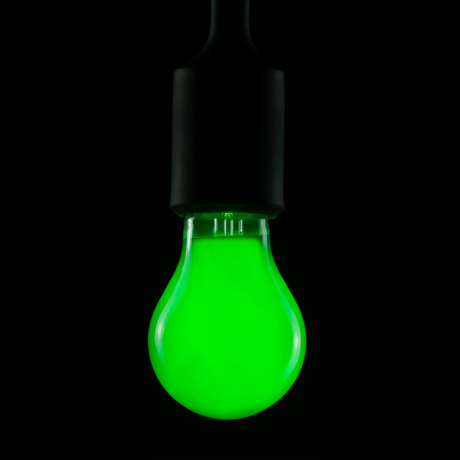 E27 2W LED-lamppu vihreä, himmennettävä
