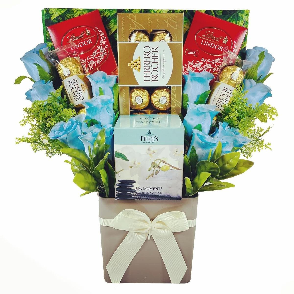 The Price's Boxed Candle Bouquet - Blue