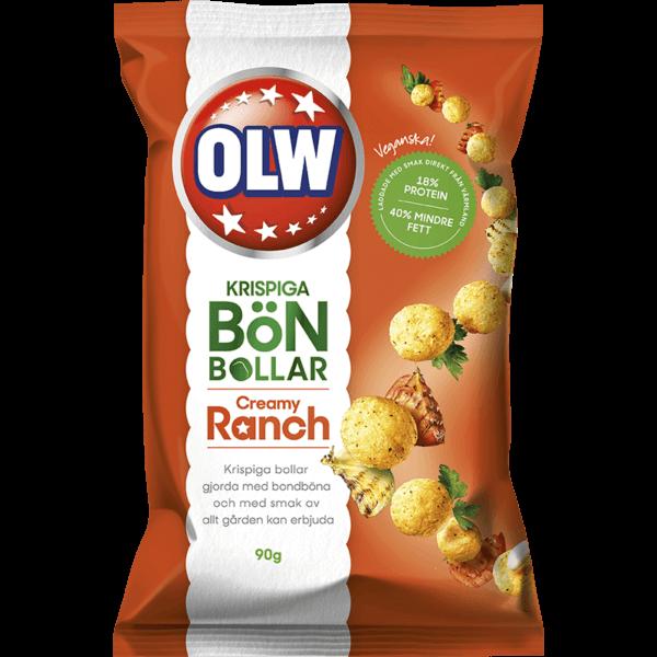 OLW Krispiga Bönbollar Creamy Ranch 90g