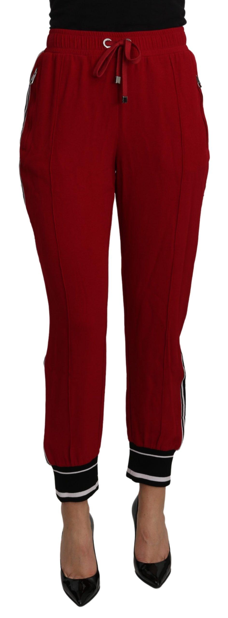 Dolce & Gabbana Women's High Waist Stretch Trouser Red PAN71099 - IT44 L