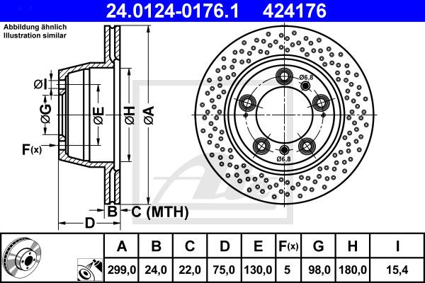 Jarrulevy ATE 24.0124-0176.1