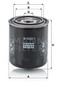 Hydrauliikkasuodatin, automaattivaihteisto MANN-FILTER W 9023/1