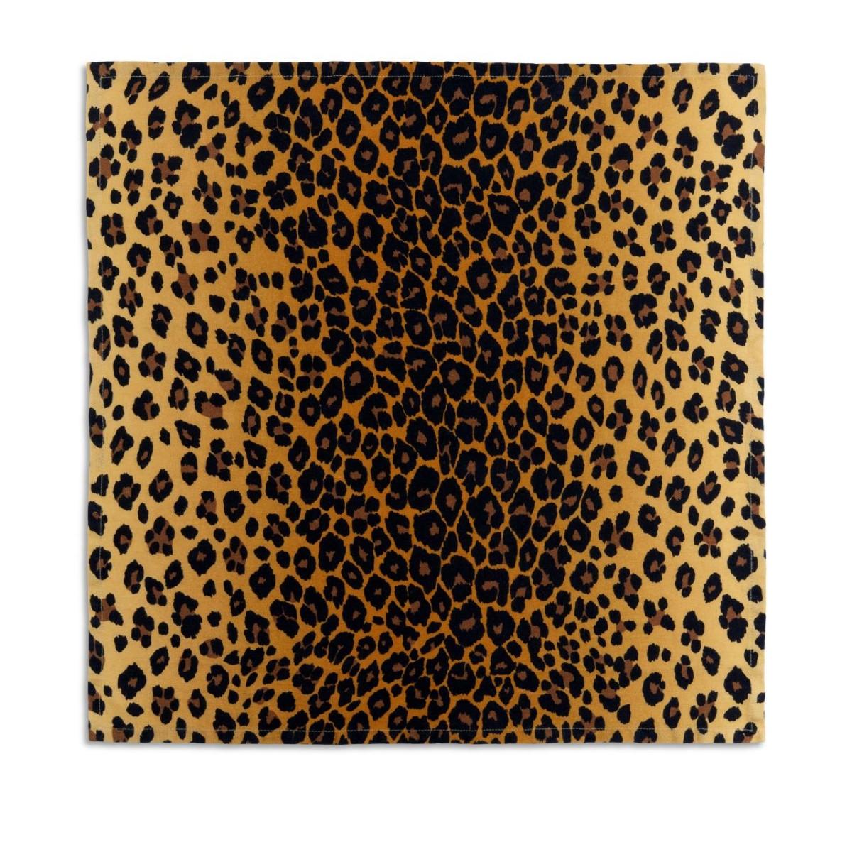 L'Objet I Linen Sateen Napkins (set of 4) I Leopard - Natural