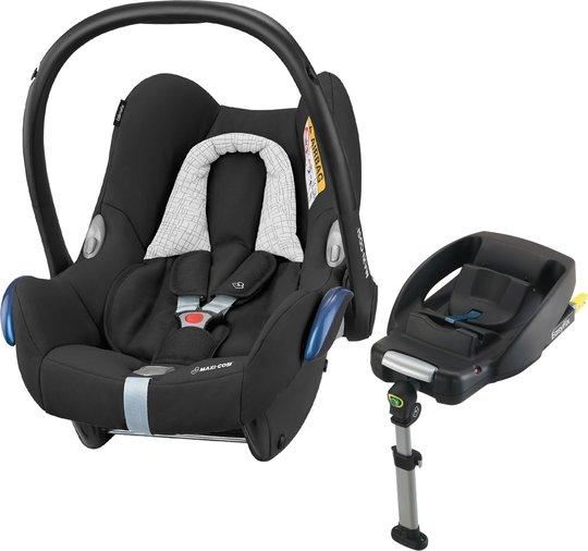 Maxi-Cosi CabrioFix Babybilstol, Black Grid & EasyFix Base
