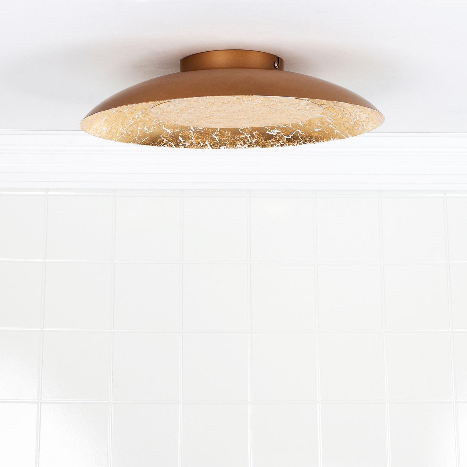 LED-kattovalaisin Foskal messinkiä, Ø 34,5 cm