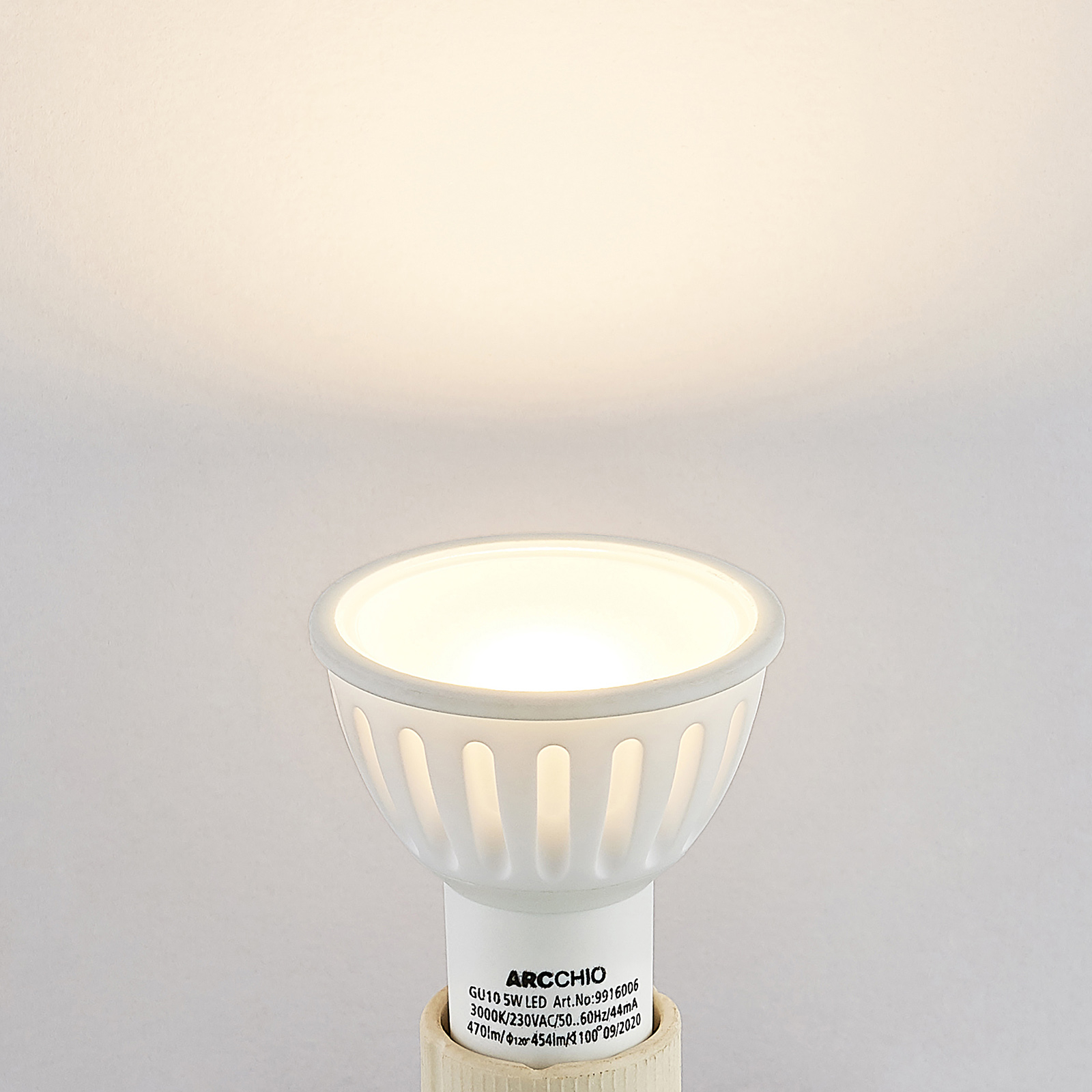Arcchio-LED-heljastinlamppu GU10 100° 5W 3 000 K