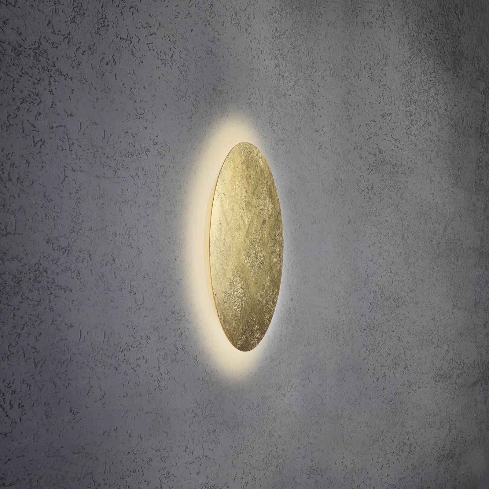 Escale Blade LED-vegglampe, bladgull, Ø 44 cm