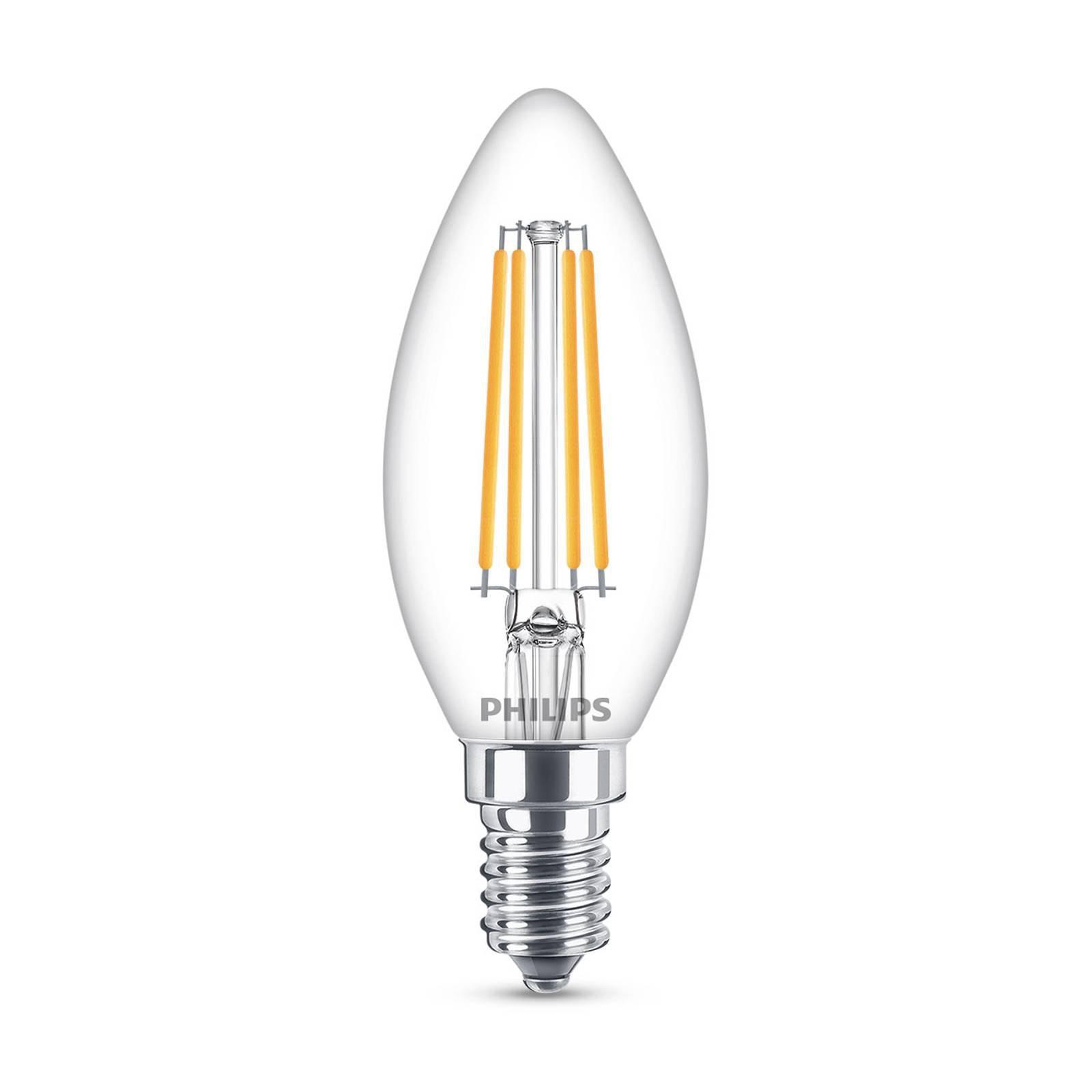 Philips Classic LED-pære E14 B35 6,5W 2 700 K klar