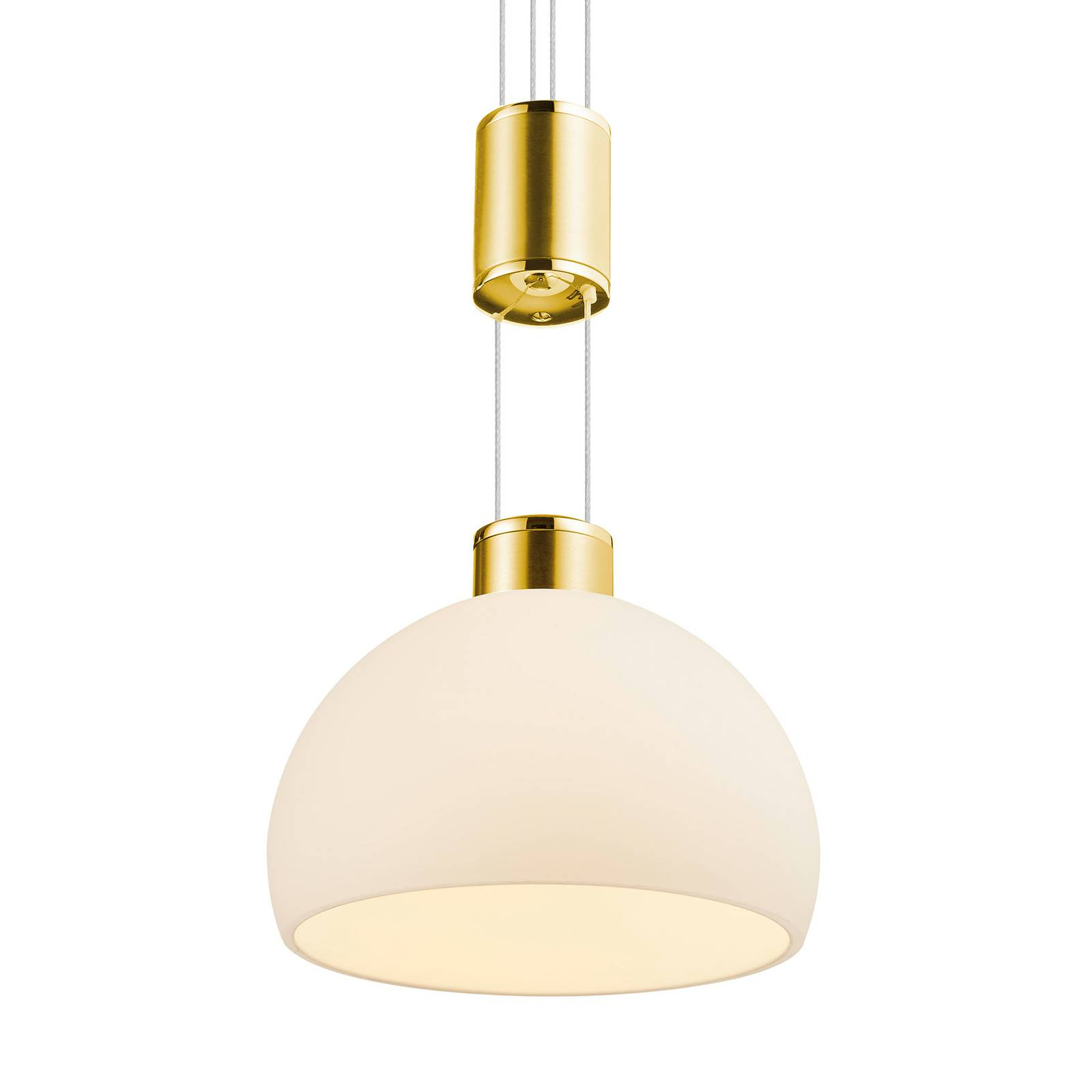 BANKAMP Meisterwerke -riippuvalo 3-lamp. messinki